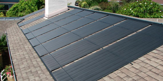Solar cover for Solar water heating panels for swimming pools